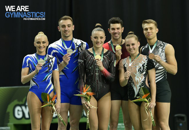 Mixed Pairs podium