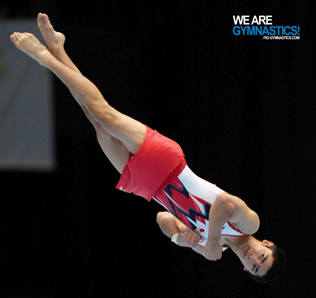 Kenzo Shirai (JPN) performing on Floor Exercise at the 2013 World Championships in Antwerp (BEL), where he clinched his first World title.